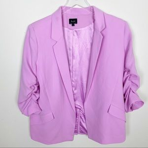 Bardot Tuck Sleeve Blazer in Marsh Pink